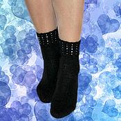 Аксессуары handmade. Livemaster - original item Wool socks with beads. Knitted thin. ( NCB. Handmade.