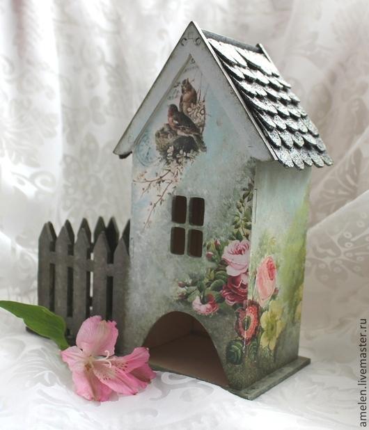 """Кухня ручной работы. Ярмарка Мастеров - ручная работа. Купить Чайный домик """"Уютный садик"""". Handmade. Разноцветный, дом, акрил"""