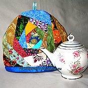"""Посуда ручной работы. Ярмарка Мастеров - ручная работа Грелка на чайник """"Яркий лоскуток"""". Handmade."""