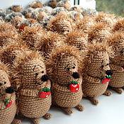 Куклы и игрушки ручной работы. Ярмарка Мастеров - ручная работа Ежики. Фирменный подарок... Handmade.