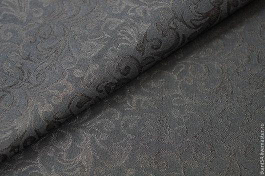 Шитье ручной работы. Ярмарка Мастеров - ручная работа. Купить Ткань кост. жаккард 469/1, 150 см, черный. Handmade.