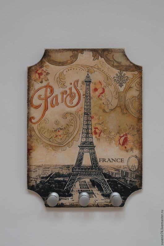 """Прихожая ручной работы. Ярмарка Мастеров - ручная работа. Купить Ключница """"Париж"""". Handmade. Комбинированный, ключница ручной работы"""