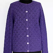 Одежда handmade. Livemaster - original item Jacket buttoned Merino knit crochet