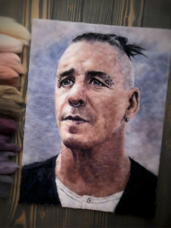 Картина шерстью «Lindemann», Картины, Ижевск,  Фото №1