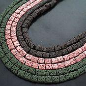 Материалы для творчества handmade. Livemaster - original item Lava cubes 10mm , 10pcs. Handmade.