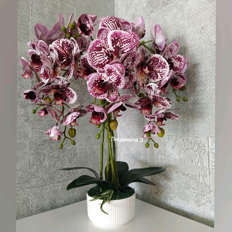 Искусственная орхидея. Имитация живой орхидеи, Композиции, Москва,  Фото №1