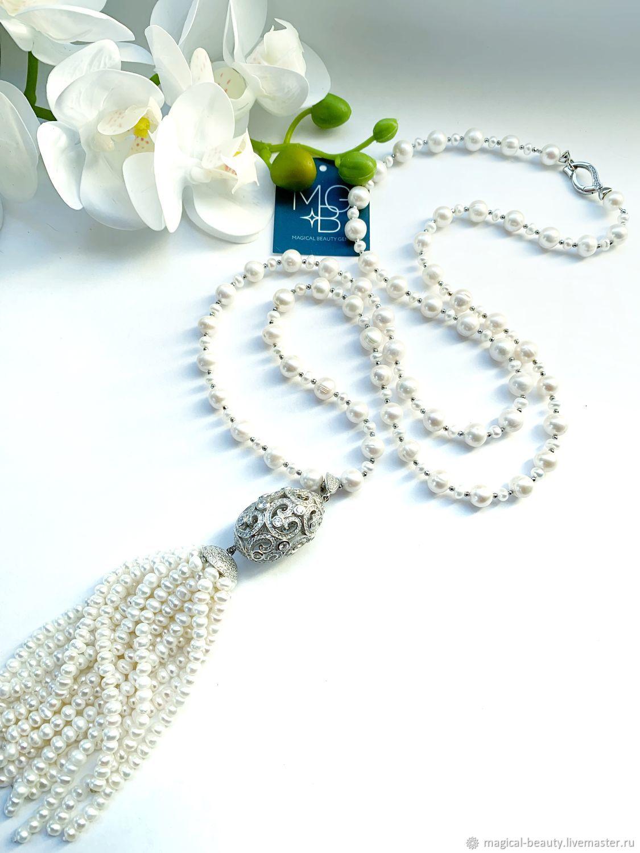 Pearl sautoir ' Jasmine», Necklace, Moscow,  Фото №1