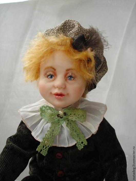 Коллекционные куклы ручной работы. Ярмарка Мастеров - ручная работа. Купить малыш с собачкой. Handmade. Кукла ручной работы, мальчик