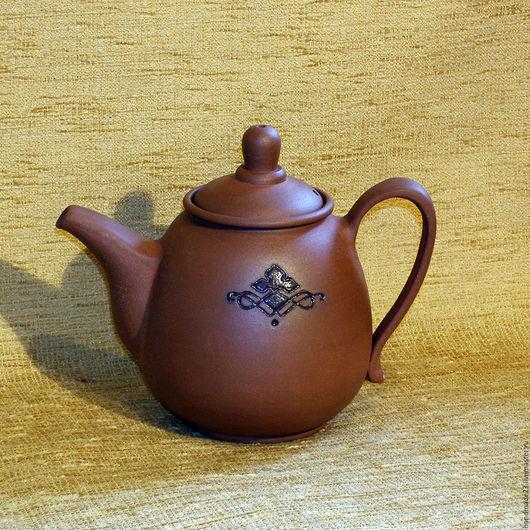 """Чайники, кофейники ручной работы. Ярмарка Мастеров - ручная работа. Купить чайник """"домашний 2"""". Handmade. Коричневый, чай, глазурь"""