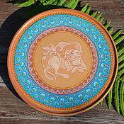 """Посуда ручной работы. Ярмарка Мастеров - ручная работа Декоративная тарелка """"Спящий лев"""". Handmade."""