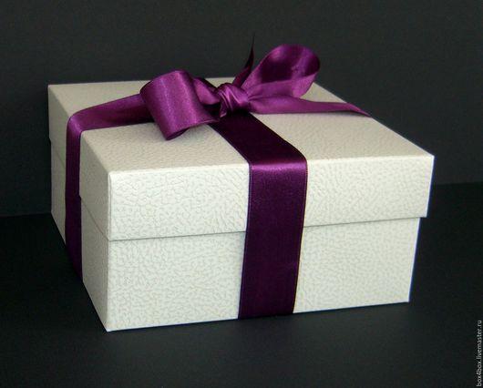 Упаковка ручной работы. Ярмарка Мастеров - ручная работа. Купить Коробки подарочные 16,5x16,5x8 cм. Handmade. Белый
