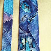 """Аксессуары ручной работы. Ярмарка Мастеров - ручная работа Галстук  батик мужской шелковый """"Формула-1"""". Handmade."""