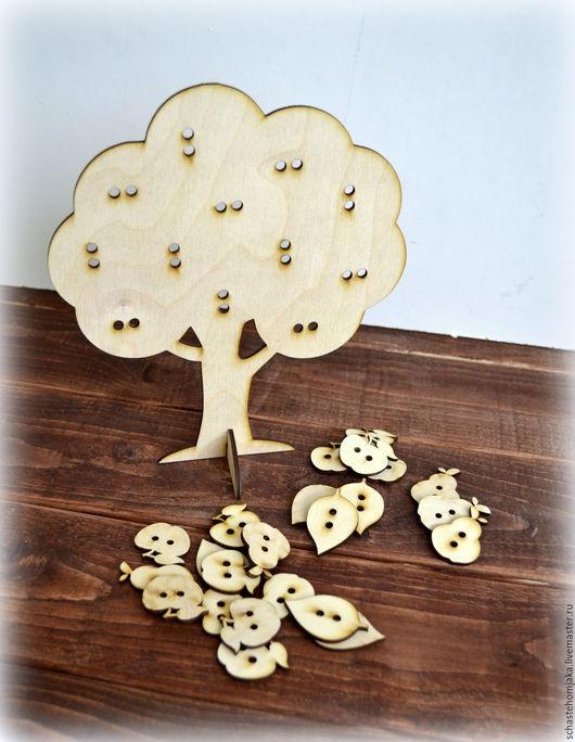 """Развивающие игрушки ручной работы. Ярмарка Мастеров - ручная работа. Купить Шнуровка """"Дерево"""". Handmade. Бежевый, развивающие игрушки, плоды"""