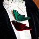 """Броши ручной работы. Ярмарка Мастеров - ручная работа. Купить БРОШЬ """"ПТИЧКА ИЗУМРУД"""". Handmade. Зеленый, зеленая птичка"""