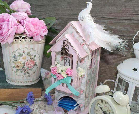 Кухня ручной работы. Ярмарка Мастеров - ручная работа. Купить Чайный домик. Handmade. Розовый, чайный домик декупаж, кухня