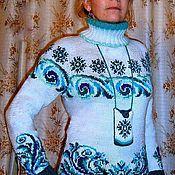 """Одежда ручной работы. Ярмарка Мастеров - ручная работа Свитер связанный на спицах """"Северная Звезда"""", авторская работа. Handmade."""
