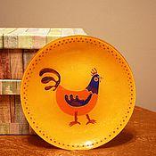 """Посуда ручной работы. Ярмарка Мастеров - ручная работа Тарелочка """"Петушок"""". Handmade."""