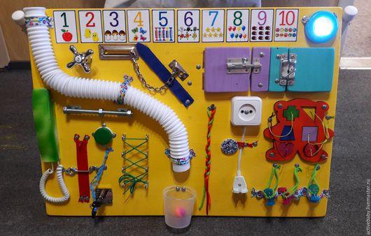 Развивающие игрушки ручной работы. Ярмарка Мастеров - ручная работа. Купить Бизиборд-big №10. Handmade. Комбинированный, для детей, Монтессори