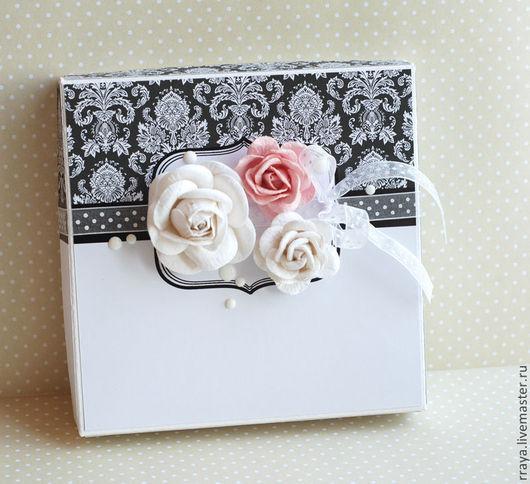 """Свадебные открытки ручной работы. Ярмарка Мастеров - ручная работа. Купить Свадебная коробочка """"Розы"""". Handmade. Свадебная открытка, love"""