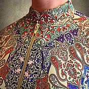 Одежда ручной работы. Ярмарка Мастеров - ручная работа Ветровка из атласного шелка Jonathan Saunders. Handmade.
