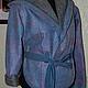 Верхняя одежда ручной работы. Куртка с капюшоном валяная. Нурия Ахметова. Ярмарка Мастеров. Спортивный стиль, джинсовая ткань