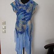 Одежда ручной работы. Ярмарка Мастеров - ручная работа Платье валяное нуно-фелтинг Голубая мечта. Handmade.