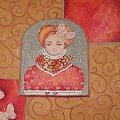 """Аксессуары ручной работы. Ярмарка Мастеров - ручная работа Шелковый платок """"Инфанта"""". Handmade."""