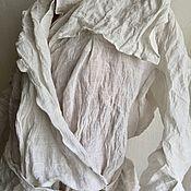 Пиджаки ручной работы. Ярмарка Мастеров - ручная работа Жакет лен металлизированный. Handmade.