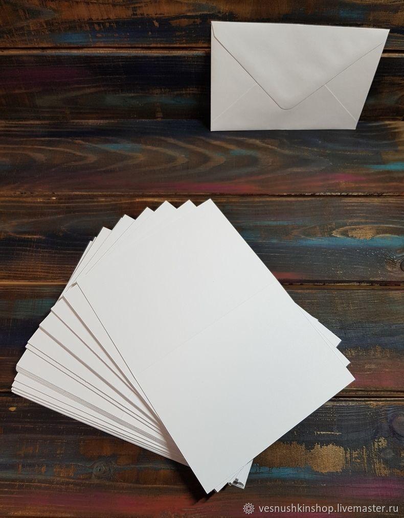 Днем, заготовки для открыток с конвертом