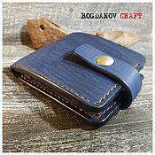 Сумки и аксессуары handmade. Livemaster - original item Blue wallet, men`s. Genuine leather.. Handmade.