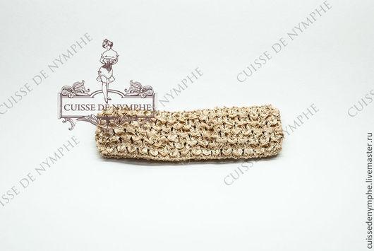 Шитье ручной работы. Ярмарка Мастеров - ручная работа. Купить Повязка на голову, пшеничная, 6007. Handmade. Топ, топ акриловый