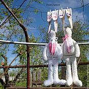 Куклы и игрушки ручной работы. Ярмарка Мастеров - ручная работа Тильда заяц.. Handmade.