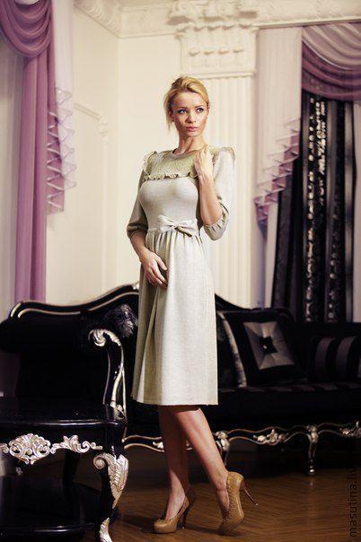 """Платья ручной работы. Ярмарка Мастеров - ручная работа. Купить Платье """"Прованс"""". Handmade. Бежевый, платье с рюшами"""
