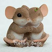 Материалы для творчества handmade. Livemaster - original item Silicone molds for soap Mouse hugging. Handmade.