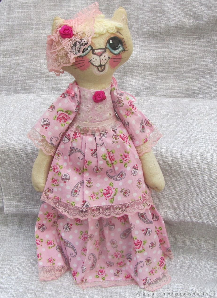 Текстильная кукла: Кошка Розалия, Мягкие игрушки, Астрахань,  Фото №1