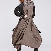 Одежда ручной работы. Ярмарка Мастеров - ручная работа Льняное бохо платье 4-20. Handmade.