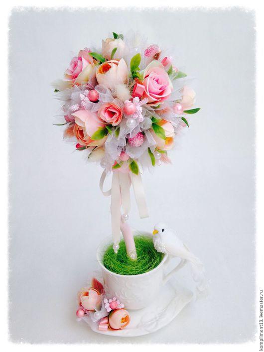 """Топиарии ручной работы. Ярмарка Мастеров - ручная работа. Купить Топиарий """"Райская птица"""". Handmade. Разноцветный, топиарий ручной работы"""
