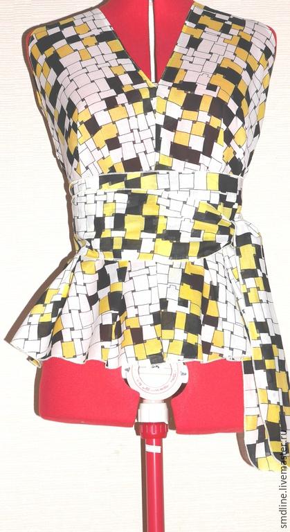 Блузки ручной работы. Ярмарка Мастеров - ручная работа. Купить Блузка из батиста с рисунком. Handmade. Разноцветный, абстракция графика