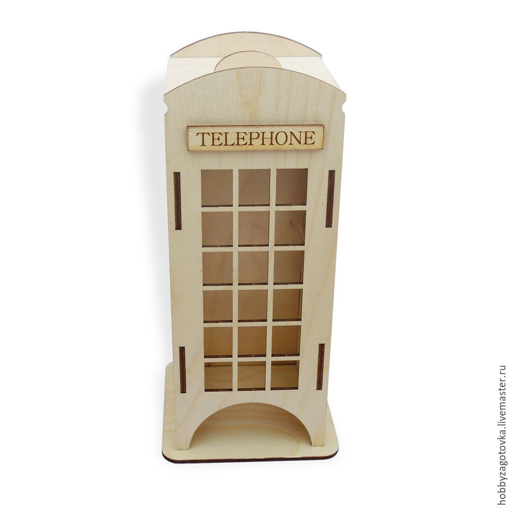 """Чайный домик маленький """"Телефонная будка"""". F-0517, Для телефонов, Ступино, Фото №1"""