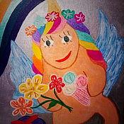 """Картины ручной работы. Ярмарка Мастеров - ручная работа Картины: """"Единорог"""". Handmade."""