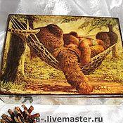 """Для дома и интерьера ручной работы. Ярмарка Мастеров - ручная работа Шкатулка """"Мишкино счастье"""". Handmade."""