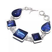 Винтаж handmade. Livemaster - original item Original starry sky bracelet, dichroic glass, 925 silver. Handmade.
