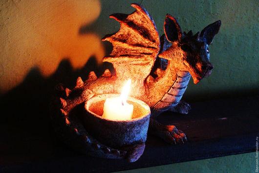 Подсвечники ручной работы. Ярмарка Мастеров - ручная работа. Купить Подсвечник Дракон. Handmade. Рыжий, оксид меди