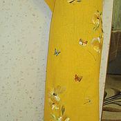 Одежда ручной работы. Ярмарка Мастеров - ручная работа вышитая шелком заготовка  на платье. Handmade.