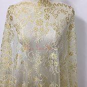 Материалы для творчества handmade. Livemaster - original item delicate golden-white chantilly lace, marseille. Handmade.