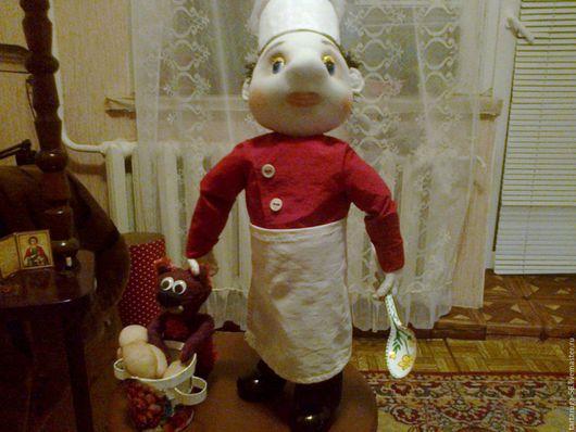 Коллекционные куклы ручной работы. Ярмарка Мастеров - ручная работа. Купить Шеф повар. Handmade. Белый, кукла, кухня