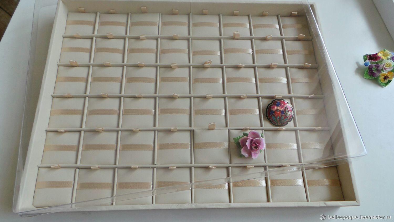 Планшет для средних брошей, 48 ячеек (3,5х3,5 см) с крышкой, Органайзеры, Санкт-Петербург, Фото №1