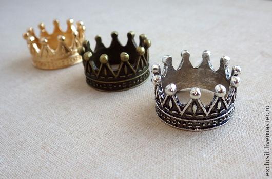 Корона кукольная для принцесс, тильд и минизверико. Цвет короны - бронза. Внутренний диаметр короны 1,9 см, высота 1,2 см