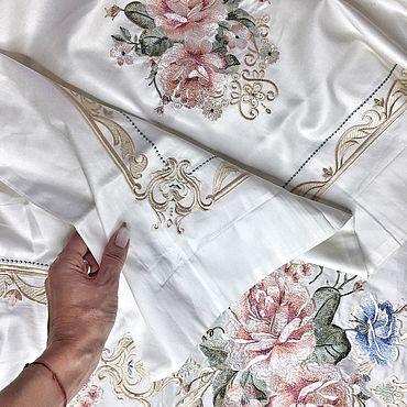 Свадебный салон ручной работы. Ярмарка Мастеров - ручная работа Постельное белье с вышивкой из египетского хлопка. Handmade.