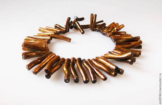Для украшений ручной работы. Ярмарка Мастеров - ручная работа. Купить 10шт. золотой коралл палочки. Handmade. Бусины для украшений